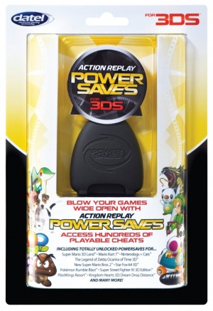 Action Replay 3DS Power Saves, Covermotiv