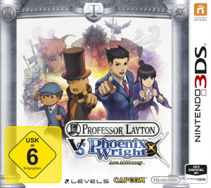 Professor Layton vs. Phoenix Wright: Ace Attorney, Covermotiv/Artwork