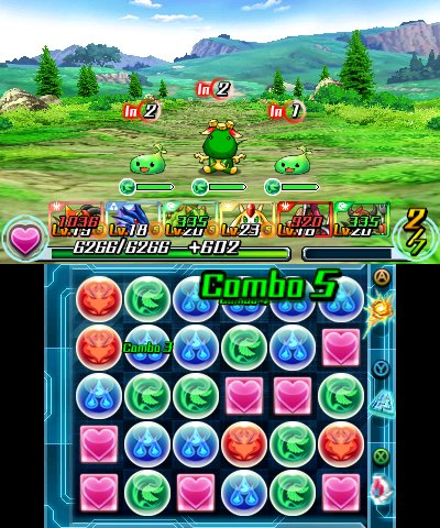 Puzzle & Dragons Z + Puzzle & Dragons: Super Mario Bros. Edition, Screenshot #1