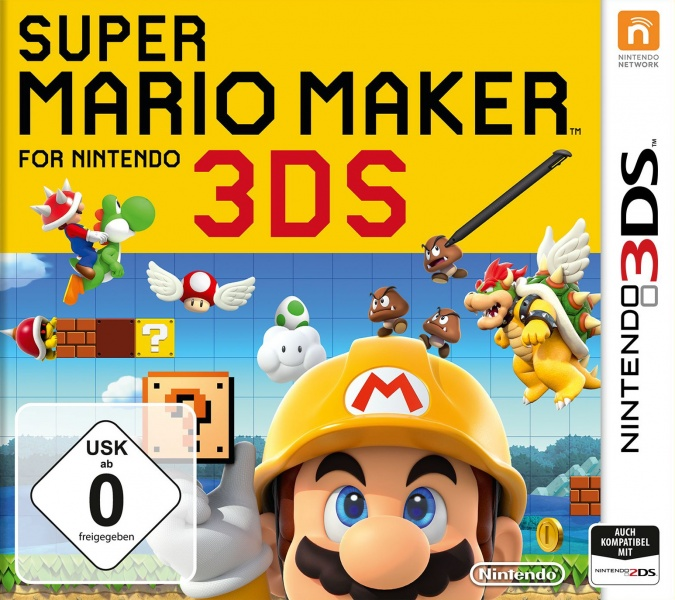 Super Mario Maker for Nintendo 3DS, Covermotiv
