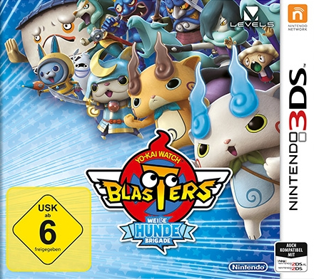 Yo-Kai Watch Blasters: Weiße-Hunde-Brigade, Covermotiv/Artwork