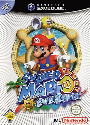 Super Mario Sunshine, Covermotiv