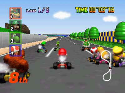 Mario Kart 64, Screenshot #1