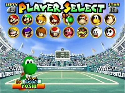 Mario Tennis, Screenshot #1
