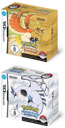 Pokémon Silberne Edition SoulSilver & Pokémon Goldene Edition HeartGold, Covermotiv/Artwork