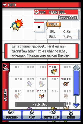 Pokémon Silberne Edition SoulSilver & Pokémon Goldene Edition HeartGold, Screenshot #1