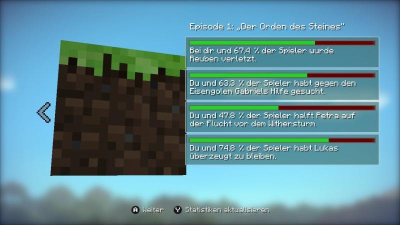 Eyes On Review Minecraft Story Mode Das Komplette Abenteuer - Minecraft spieler statistik