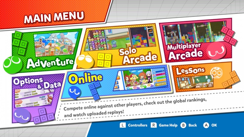 Puyo Puyo Tetris: Frantic Four-Player Puzzle Mashup!, Screenshot #1