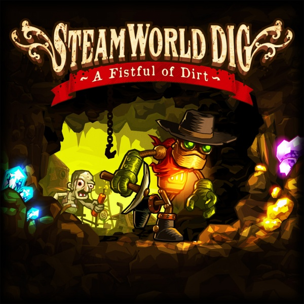 SteamWorld Dig - A Fistful of Dirt, Covermotiv