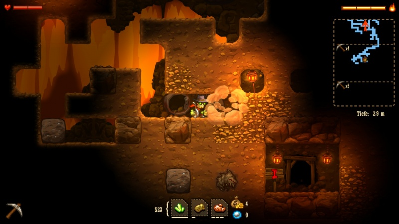 SteamWorld Dig - A Fistful of Dirt, Screenshot #1