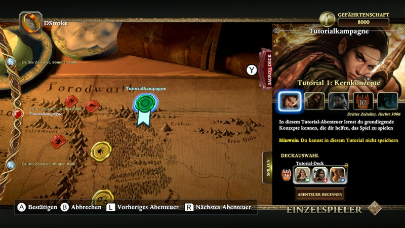 The Lord of the Rings: Adventure Card Game, Screenshot #1