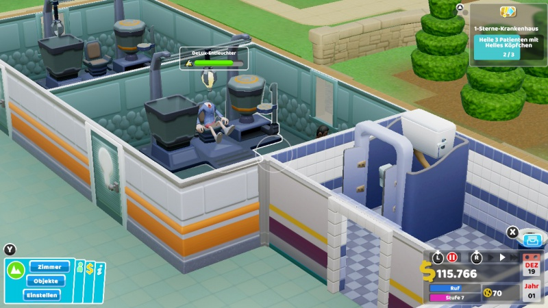 Two Point Hospital, Screenshot #2