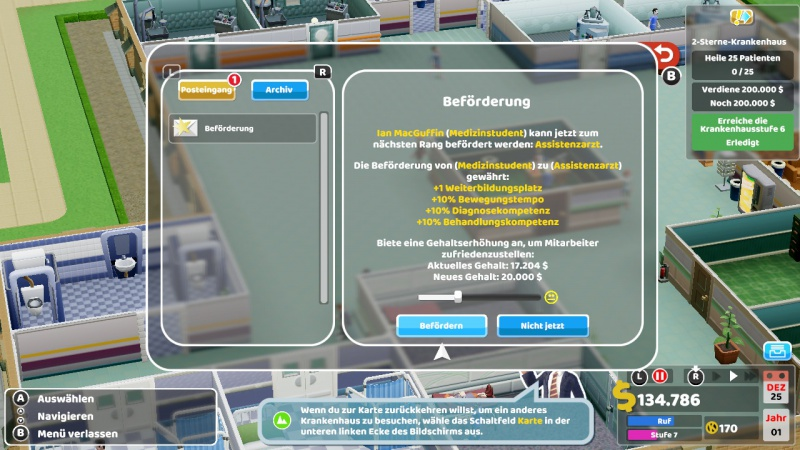 Two Point Hospital, Screenshot #3