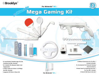 Brooklyn Ultimate Mega Gaming Kit for Wii, Covermotiv
