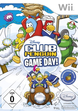 Club Penguin - Game Day!, Covermotiv/Artwork