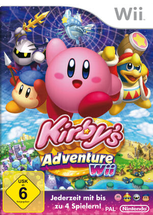 Kirby's Adventure Wii, Covermotiv
