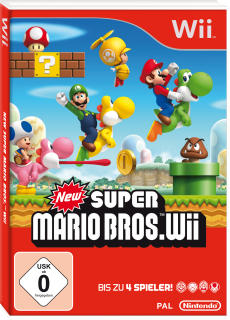 New Super Mario Bros. Wii, Covermotiv/Artwork