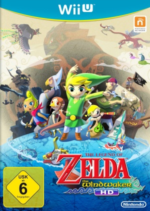 The Legend of Zelda: The Wind Waker HD, Covermotiv/Artwork